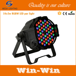 China supplier 54 x 3w rgbw led par light stand