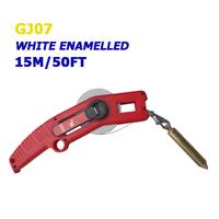 15m/50ft white enamel oil measuring tape