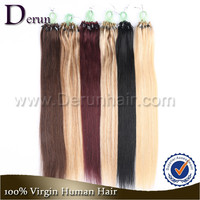 Alibaba Express Straight Virgin Brazilian Remy Human Fast Shipping Cheap Micro Loop Hair Extension