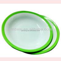 Large size Colors Microwave Safe Reusable Hard Plastic Plates