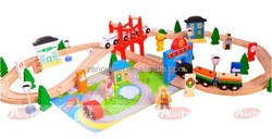 Diy wooden toy track, train track toys, educational wooden train toy for kids