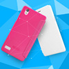 Customize shockproof fancy leather flip case for oppo mirror 5