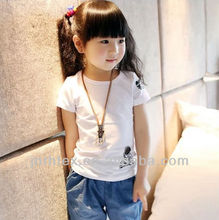 Custom high quality baby t-shirt with embroidered
