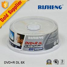 RISHENG blank 8.5gb double layer dvd-r printable/blank 8.5gb dvd-r dl verbatim/blank 8.5gb double layer dvd-r