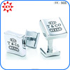 Wholesale laser engraved cufflinks with silver in China