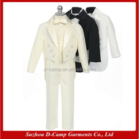 BS-006 Custom made baby boy dress clothes boys white suit