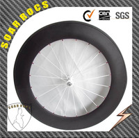Super Strong 88mm Clincher 700c carbon track wheels with fixed gear hub single speed wheels