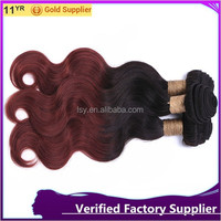 """8"""" wholesale price factory supply virgin hair extension two tome remy hair weft omber body wave virgin hair bundles"""