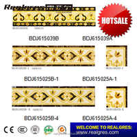 House plans foshan crystal border tiles with marble design