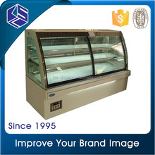 commercail bakery refrigerator cake display chiller marble base or Stainless Steel bakery showcase