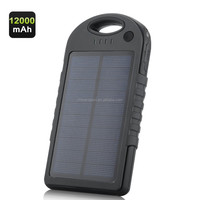 12000mAh Solar Powered Charger - Weatherproof, Dustproof, Shockproof, Dual USB Output, 4x Adapter