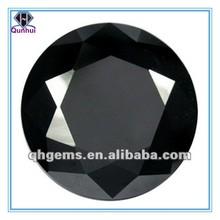 Fashion gemstone Round shaped Black Cubic Zirconia Stones