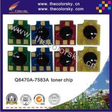 (CZ-DHU15-2) laser toner cartridge reset chip for HP Q6470A - Q7581A Q7583A Q6470 6470A 6470 Q7581 7581A 7581 bkcmy