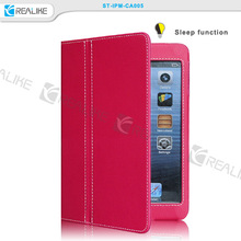 Hot sales cheap factory price two folding stand folio leather case for ipad mini