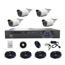 4CH NVR Surveillance Kits- -1.3MP outdoor POE Bullet Camera POE Network NVR Kits
