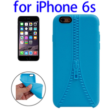 Zipper Texture Solid Color TPU Protective Case for iPhone 6s