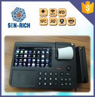 """7"""" Touch Screen wireless payment Android tablet POS with printer ,wifi ,RFID"""