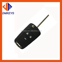 High quality Peugeot 407 blade 3 button flip remote key blank NO battery place ) (No Logo)/peugeot key shell/blank car key