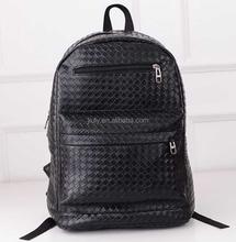 Fashion Travel School Shoulder Bag Women Girl pu Leather Woven Backpack