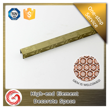 Good quality stainless steel tile trim strips/metal trim strips for project decoration