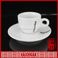 Porcelain tea cup saucer, custom printed tea cup and saucer