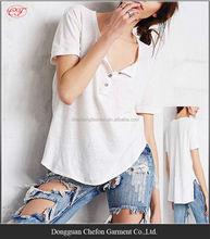 China wholesale henley pattern cotton spandex t-shirt cheap t shirt