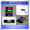 single color badge digital/electronic led screen mini name/massage led display badge