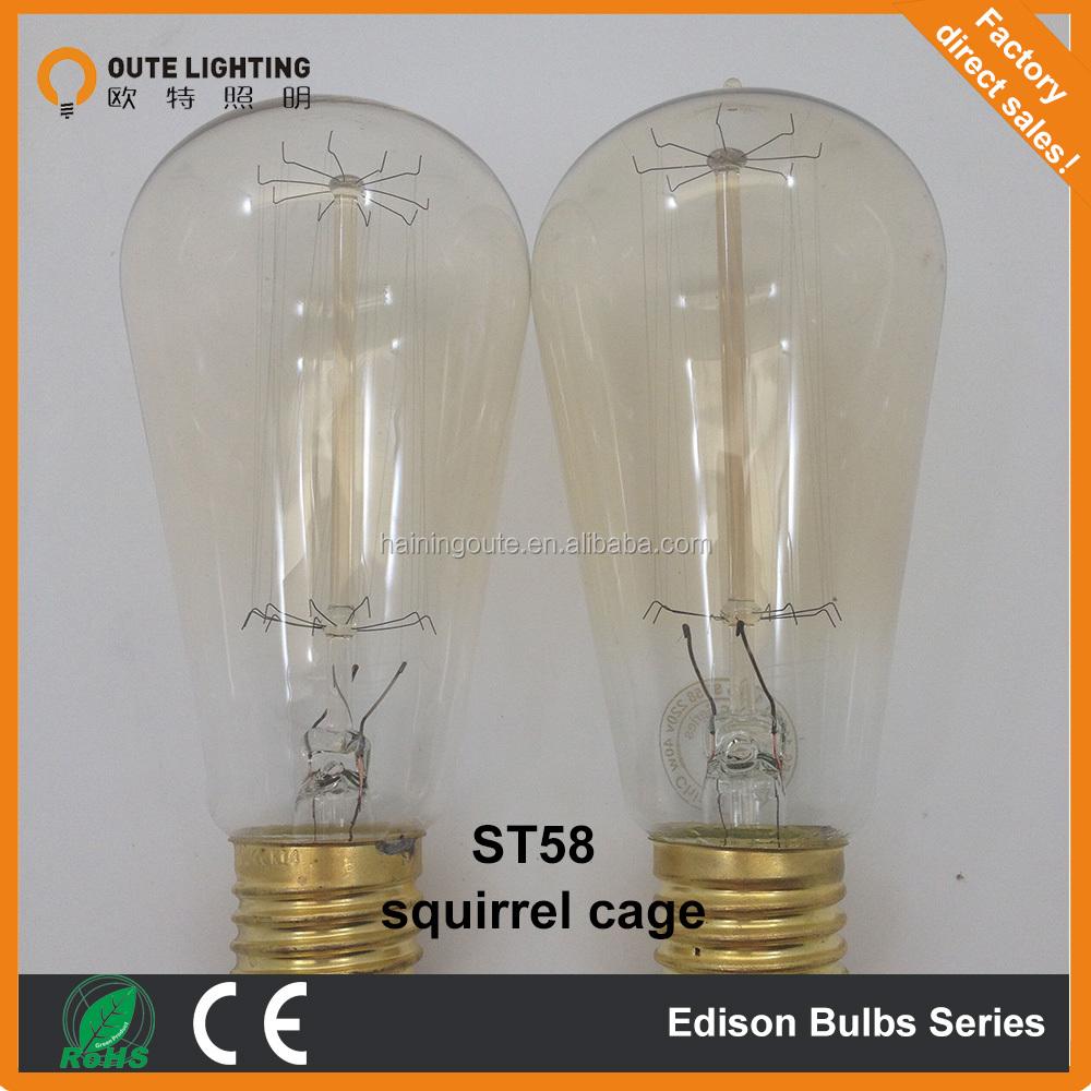 st58 wholesale 220 110v 40w edison lamp edison bulb buy. Black Bedroom Furniture Sets. Home Design Ideas
