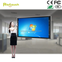 Riotouch China large size IR multi touch screen monitor USB powered with factory price for school