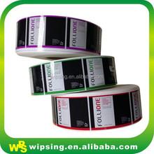 Rolo de adesivo auto etiqueta para garrafa adesivo alimentos etiqueta da impressão na China adesivo personalizado com personalizado