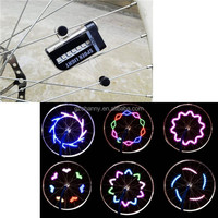 Hot sale 14 LED Motorcycle Cycling Bicycle Bike Wheel Signal Tire tyre Spoke Light Lamp 15 Patterns