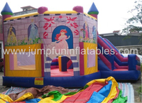 Cheap Inflatable Combo Princess Bouncy castle with slides,1000D PVC Inflatable Bouncer rental