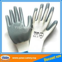 cheap 13 gauge polyester Nitrile palm coated Working glove