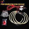 Manufacturer 131mm semi-circle cob led angel eyes for bmw e36 e38 e39 e43 led angel eyes