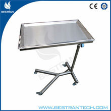 BT-SMT001 stainless steel medical surgical cart removable tray mayo table