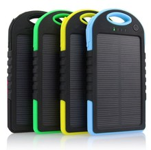 Portable automatic mobile Solar Panel Charger 5000MAH for smartphone tablet pc