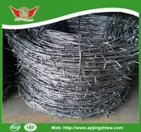 Cheap! Hot Dip/ Electric Galvanized Double Twist Barbed Wire Fencing Real Factory