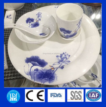 Environmental protection and health tableware Blue and White Underglazed Porcelain fine bone china dinner set