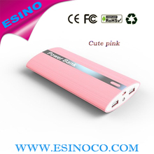 Mobile External Battery Charger Dual USB Universal Portable Power Bank Charger 15600/18000mah Made in China