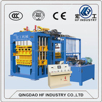 High quality HF QT10-15C hydraulic paver concrete block making machine production line