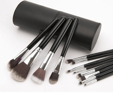 Makeup brush set,cosmetic brushes,makeup brush set wholesale with pu cylinder