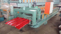China high quality New designed colored steel glazed Tile roof sheet price roll forming machine