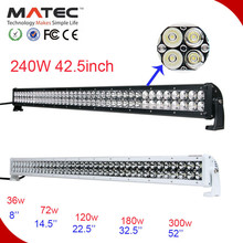On sale high quality double row 240W led light bar cover for offroad car with 12 monthhs warranty