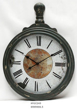 antique wooden wall clock for home decor