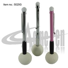 Golf Desk Pen Set Novelty Design Ballpoint Pen with Golf Ball Base for Golf Club Promotion Gifts