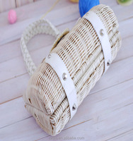 Direct-sale Rattan Weave Japan New Style 2015 Forest Style Beach Bag Lace Lady bag Straw bag