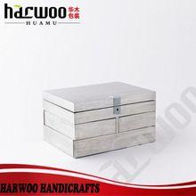 HM-MH-393 Aluminum plate MDF cosmetic box