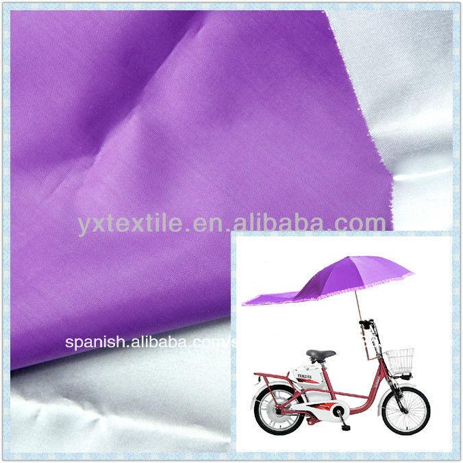100 púrpura de poliéster <span class=keywords><strong>tafetán</strong></span> tela impermeable de tela del paraguas