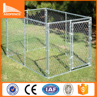 High quality chain link dog kennel fence panel/10x10x6 foot galvanized dog kennel /outdoor dog run kennel
