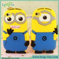 Cheap Price Cute 3D Cartoon Despicable Me Minions Case for iPhone 5